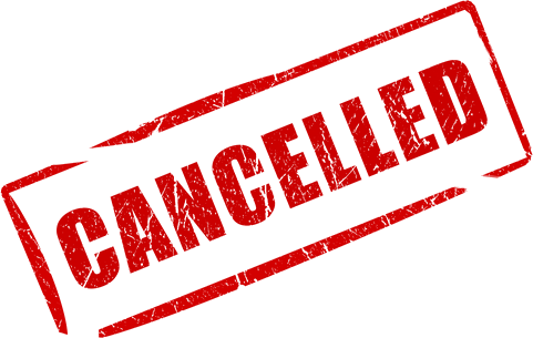 Cancelled! We will never cancel a course