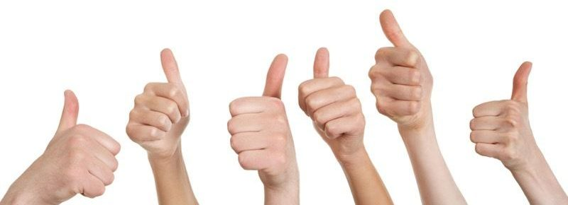 Thumbs up. All good!